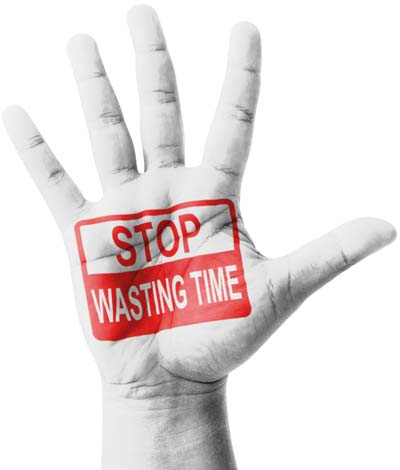 stop wasting time hand